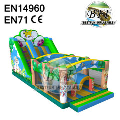 Jungle Themed Inflatable Slide