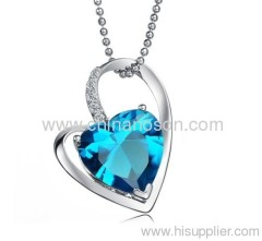 Fashion Necklace with Heart CZ pendant