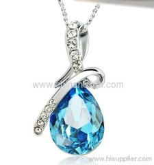 Swarovski Crystal necklace with sapphire pendant