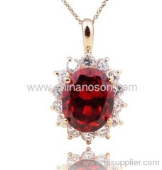 Pendant necklace with CZ stone