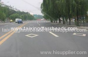 Reflective glass bead for road marking
