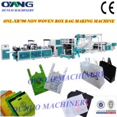 non woven bag making machine with online handle