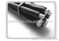 600/1000v ABC quadruplex cable with 4 core twisted ASTM