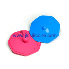 colorful note shaped silicone cup lid for drinking