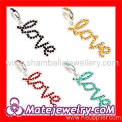 european crystal Dangle beads charms