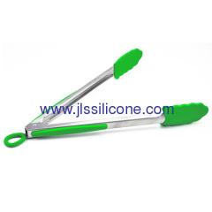 12 inc silicone food tong with stainless steel handle