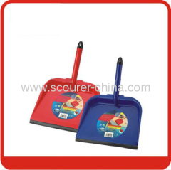 Lobby Steel Dustpan with black rubber for cleaning