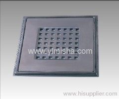 Square Stainless Steel Floor Drain Cover with Clean Out can be used in toilet, kitchen, veranda and public drain area