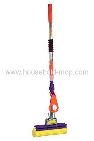 Telescopic stainless steel pva cleaning mop