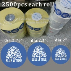 Custom Waterproof PVC Adhesive package Label,Matte Lamination Logo Sticker For Bottles,Coated Paper Labels For Bags