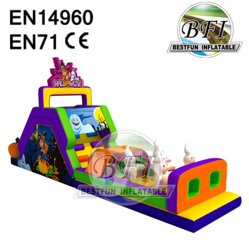 Halloween Festival Inflatable Obstacle Course Games