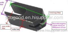 U type glass cutter for cutting machine Cutter head with Tungsten Carbide wheels