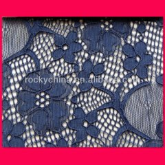 Lycra Lace/ Beaded Embroidery Bridal Laces Fabrics /Spandex Lace