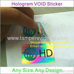 Special Hologram VOID Security Stickers