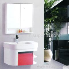 Polyvinyl chloride bathroom cabinet