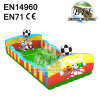 Small Inflatable Soap Soccer Field For Children Indoor Using