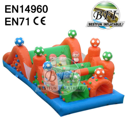 Inflatable Soccer Obstacle Course