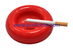 Flexible and soft silicone ashtray