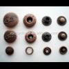 Antique copper spring snap button