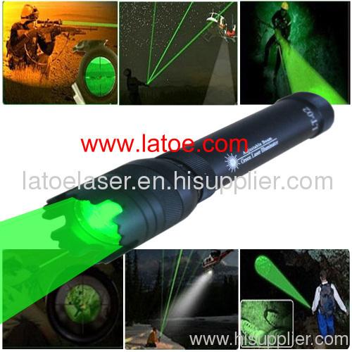 Adjustable Beam Laser Torch Flashlight