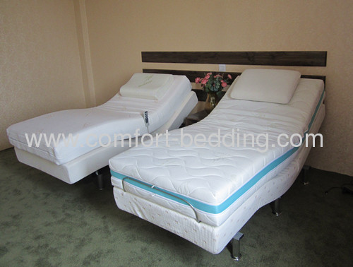 Wallhugger adjustable bed and mattress