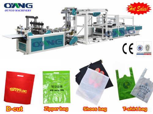 Full Automatic Non Woven Zipper Bag Making Machine From China