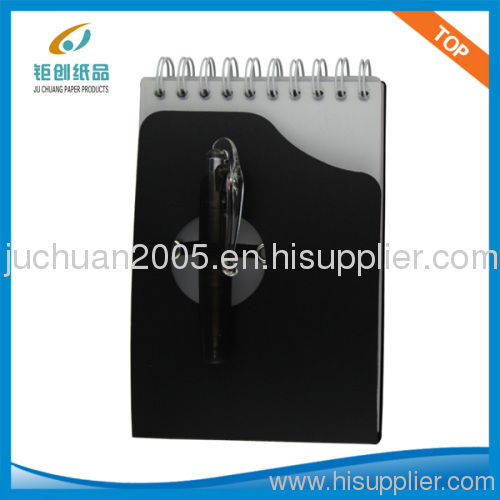72K SMALL SPIRAL NOTEPAD WITH PEN