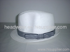 ladies paper braided fedora