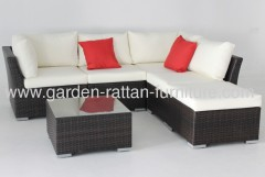 Garden PE wicker furniture patio design sofa set lounge