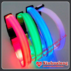 LED glowing dog collar&leashes used in night