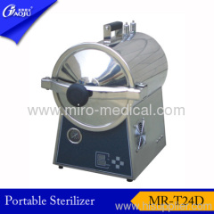 Full stainless steel round shape table top steam sterilizer