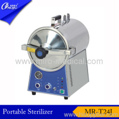 Full Stainless steel round Shape steam sterilizer 24L