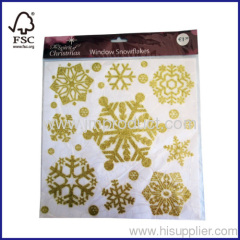 Christmas Snowflake Window Stickers with Glitter