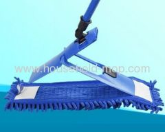 Blue chenille mop pp handle steel pole