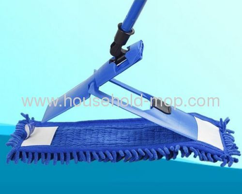 Blue chenille mop pp handle steel pole