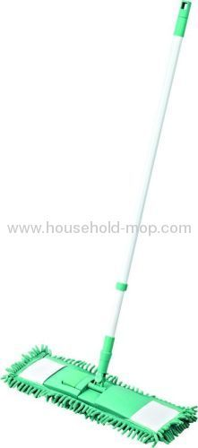 Microfiber mop with steel pole