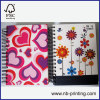 A5 4 subject hardcover double spiral notebook college ruled good quality