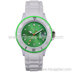 wholesale watches 40mm unisex Japan movt. plastic case silicone strap 5ATM from Intimes wholesale watch