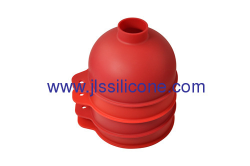 Odorless silicone funnel wiht large mouth and pipe