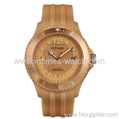 wrist watch XL size with Japan movt watch stainless steel back 10 ATM water resistant plastic watch case IT-090 for man