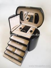 Black PU Cosmetics Cases for Ladies