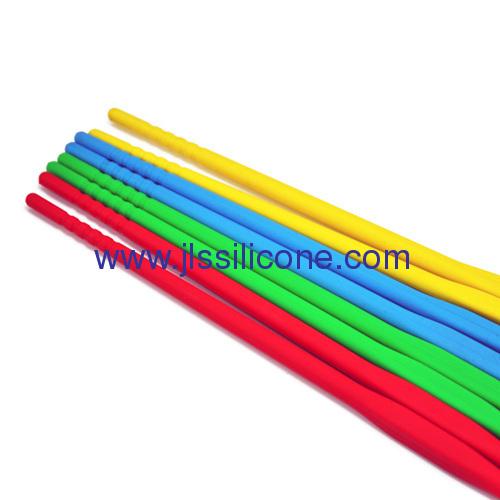 Abrasion resistant silcione chopsticks in short size