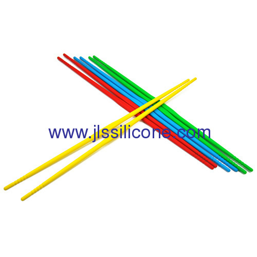 Anti-slip long silicone chopsticks in candy color
