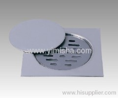 Square Zinc Alloy Chrome Plated Strainer Floor Drain
