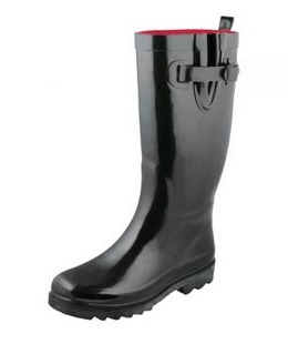 Ladies rain boot with buckle