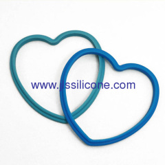 Heart syle silicone egg ring in candy colors