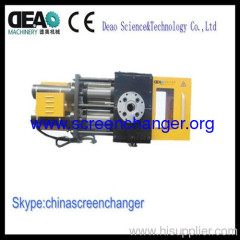 double piston hydraulic screen changer for PET monofilament extrusion plant
