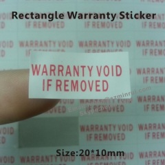 rectangle destructible warranty void if removed or damaged label
