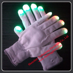 2012 NEW colorful flashing gloves LED gloves with rave light novelty light