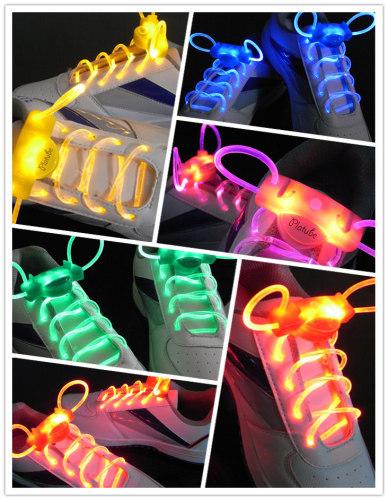 Waterproof led flashing shoelace,colorful led flashing shoelace